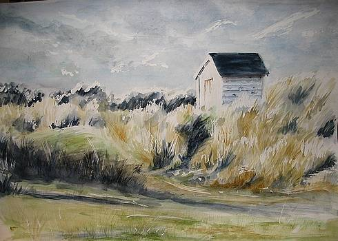 Yvonne Ayoub - Scotland Beach Hut Findhorn