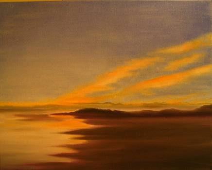 Yvonne Ayoub - Scotland Seascape at Sunset