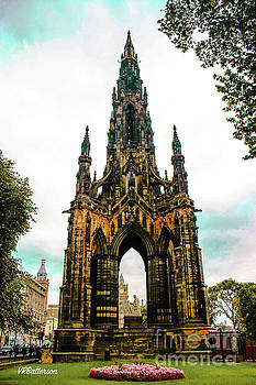 Scott Monument Edinburgh Scotland by Veronica Batterson