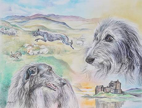 Scottish Deerhounds by Gail Dolphin