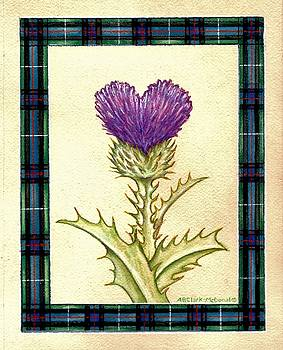 Scottish Heart Thistle by Beth Clark-McDonal