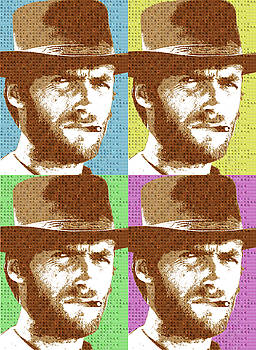 Scrabble Clint Eastwood x 4 by Gary Hogben