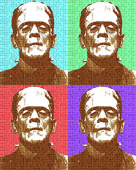 Scrabble Frankenstein's Monster x 4 by Gary Hogben