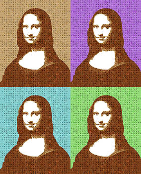 Scrabble Mona Lisa x 4 by Gary Hogben