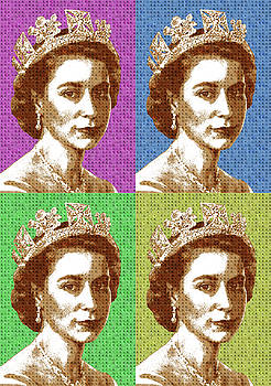 Scrabble Queen Elizabeth II x 4 by Gary Hogben