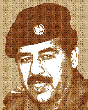 Scrabble Saddam Hussein by Gary Hogben