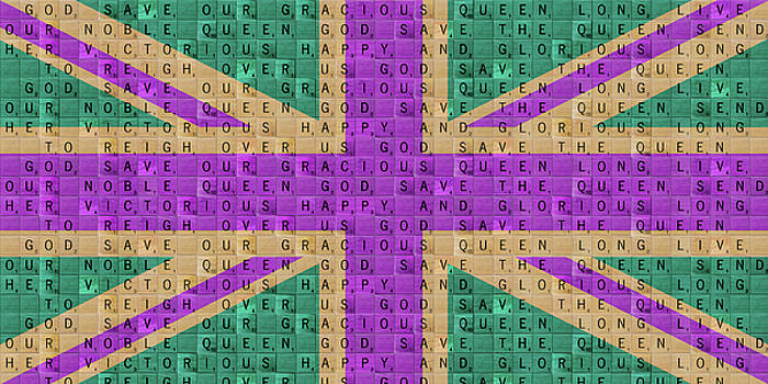 Scrabble Union Jack #4 by Gary Hogben