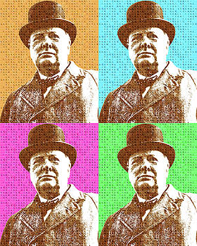 Scrabble Winston Churchill x 4 by Gary Hogben