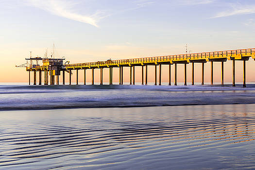 Priya Ghose - Scripps Pier La Jolla - Golden Glow In Winter