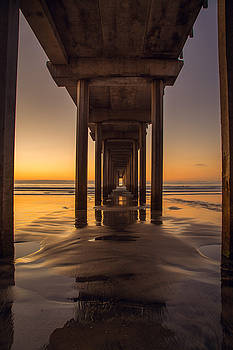 Scripps Pier - Wide by Jackie Novak