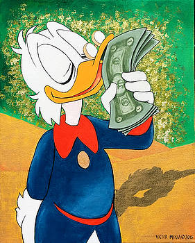 Scrooge McDuck Kissing Money by Victor Minca