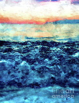 Sea And Sunset by Phil Perkins