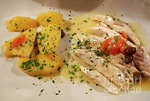 Sea Bass with new potatoes by Louise Heusinkveld