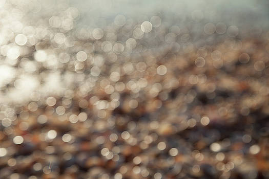 Sea, Beach And Shells Abstract Blurred by Yoel Koskas