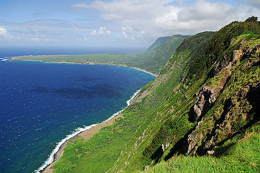 Reimar Gaertner - Sea cliffs of Kalaupapa Molokai Hawaii