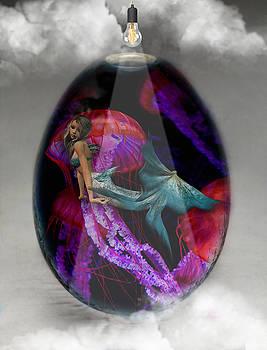 Sea Creature Mermaid Jellyfish Art by Marvin Blaine