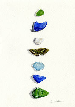 Sea Glass Watercolor by Sheryl Heatherly Hawkins