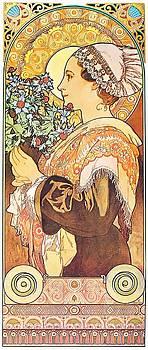Alphonse Mucha - Sea Holly