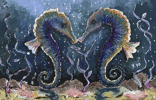 Sea horses kiss by Yvonne Lautenschlaeger