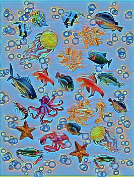 Sea Life Abstract by Gabriella Weninger - David