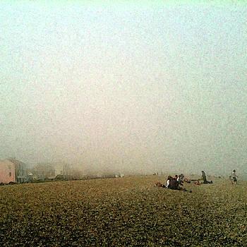 Sea Mist on Aldeburgh Beach by Anne Kotan