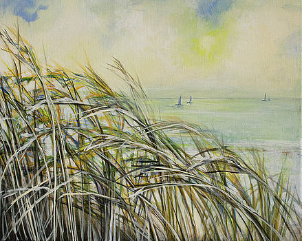 Sea Oats Sailboats by Michele Hollister - for Nancy Asbell