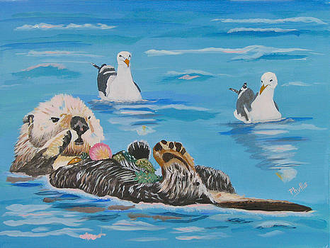 Sea Otter and Guardians by Phyllis Kaltenbach