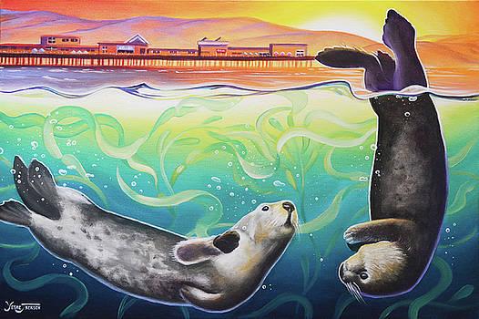 Sea Otter Sunset by Yeshe Jackson