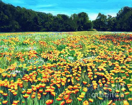 Sea Pines Wildflower Field  by Candace Lovely