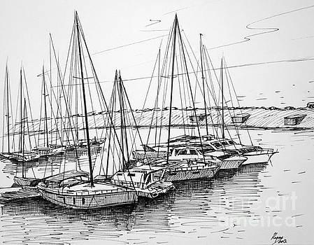Sea port by Igal Kogan