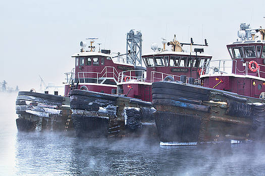 Sea Smoke in Portsmouth Harbor by Eric Gendron