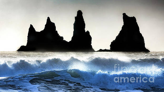 Sea Stacks in Ruff Surf by Jerry Fornarotto