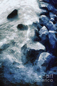 Dimitar Hristov - Sea sunset seascape with wet rocks