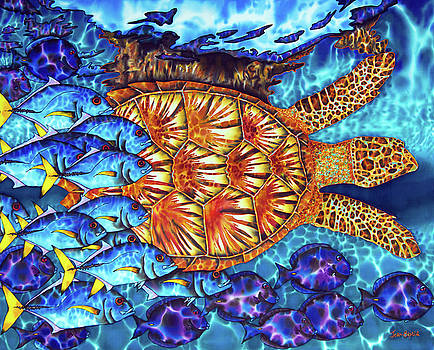 Daniel Jean-Baptiste - Sea Turtle and fish