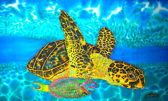Daniel Jean-Baptiste - Sea Turtle and Parrotfish