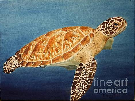 Sea Turtle by Emily Young