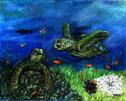 Sea Turtle Rendezvous by Tanna Lee M Wells