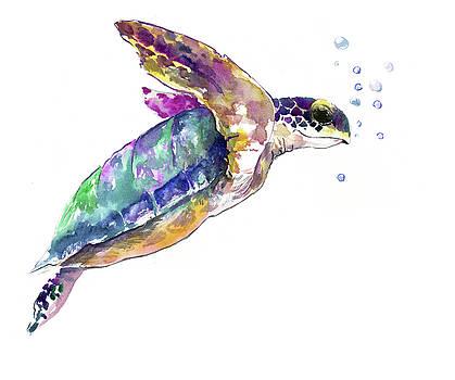 Sea Turtle UNderwater Scene by Suren Nersisyan