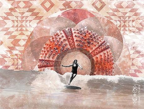 Sea Urchin Surfer  by Lori Menna