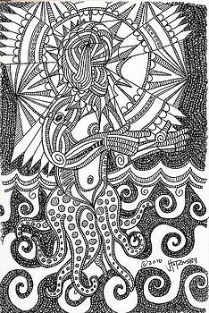 Sea Witch Black And White by John Hornsby