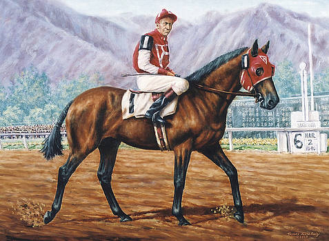 Seabiscuit at Santa Anita by Thomas Allen Pauly
