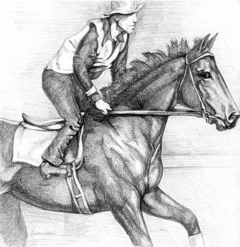 Seabiscuit with Woolf up by Darlene Watters