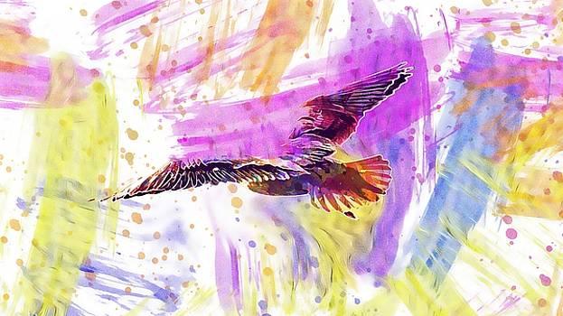 Seagull Black Headed Gull Feather  by PixBreak Art