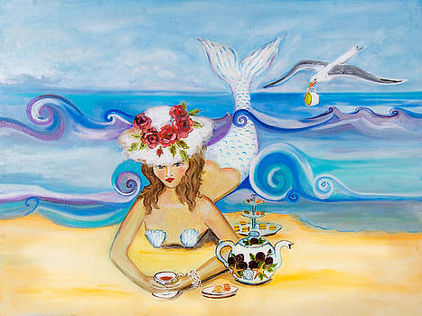 Seagull with Teacup by Theresa LaBrecque