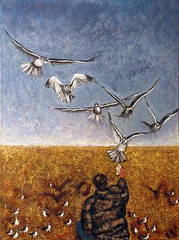 Seagulls by Vladimir Kezerashvili