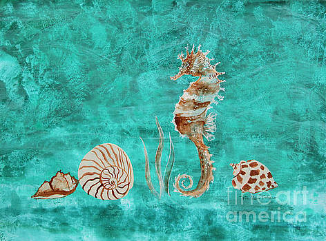 Seahorse and Shells by Robin Maria Pedrero