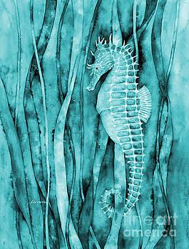 Hailey E Herrera - Seahorse on Blue