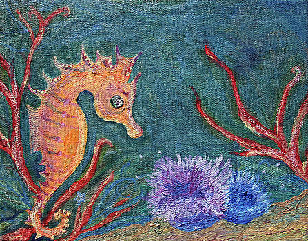 Seahorse Sea Urchins by Monique Henshall