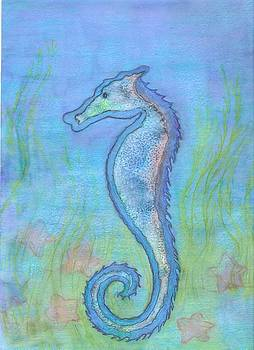 Seahorse Watercolor by Cynthia Silverman