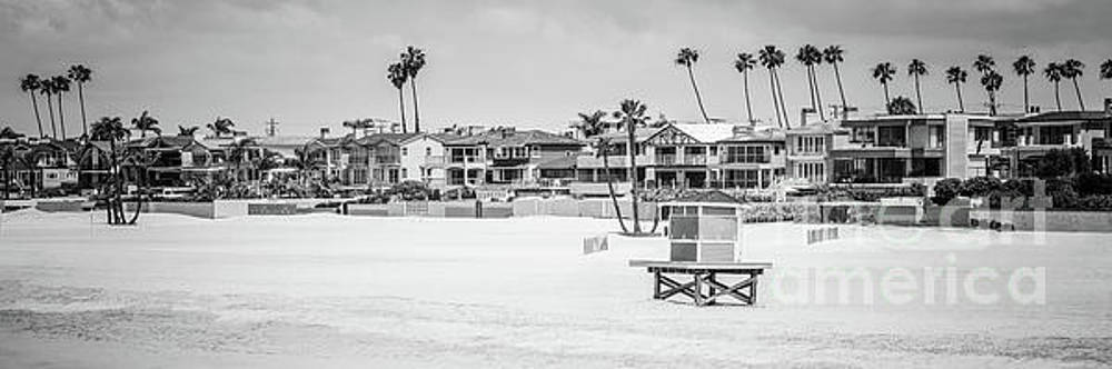 Paul Velgos - Seal Beach Black and White Panorama Picture